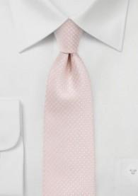 Krawatte zierliche Pünktchen rosé