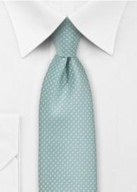Krawatte zierliche Pünktchen mintgrün