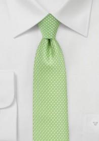 Krawatte filigrane Tupfen apfelgrün