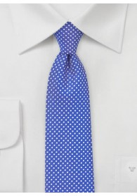 Krawatte zarte Tupfen ultramarinblau