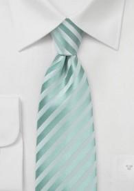 Businesskrawatte Linien mintgrün Ton in Ton