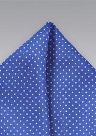 Ziertuch ultramarinblau Punkte