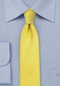 Krawatte schlank Punkt-Dekor goldgelb nachtblau