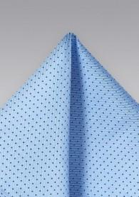 Pünktchen-Einstecktuch leichtblau navyblau
