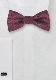 Schleife zum Selberbinden rot Paisley-Muster