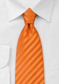 Mikrofaser Krawatte kräftiges Orange