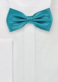 Herrenschleife blaugrün Kunstfaser