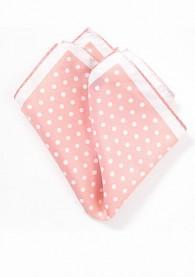 Herren-Einstecktuch große Pünktchen rosa weiß