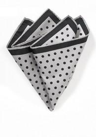 Stecktuch große Punkte grau schwarz