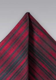 Einstecktuch Streifenstruktur rot schwarz
