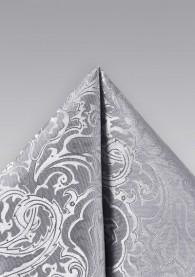 Stecktuch Paisley-Muster grau