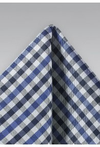 Kavaliertuch Vichy-Karo blau marineblau