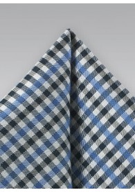 Ziertuch Vichy-Karo schwarz hellblau