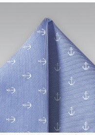 Kavaliertuch Anker-Muster hellblau