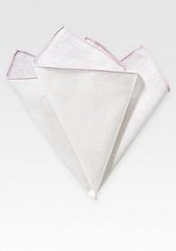 Kavaliertuch naturweißes Leinen rosafarbener Rand