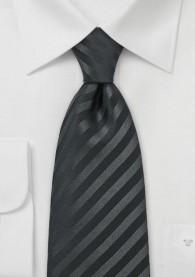 Krawatte in schwarz mit Streifenstruktur
