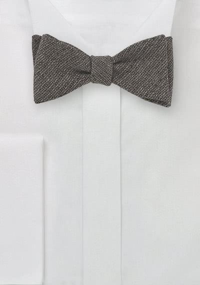 Selbstbinder-Fliege Wolle capuccinofarben