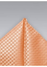 Kavaliertuch Netz-Struktur orange weiß