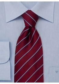 Elegance Krawatte bordeaux/hellblau