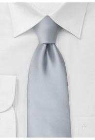 Krawatte für Kinder und Jugendliche in Silbergrau