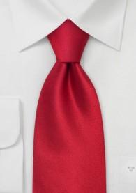 Unifarbene Krawatte feuriges Rot