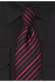 Schwarze Clip-Krawatte rote Linien