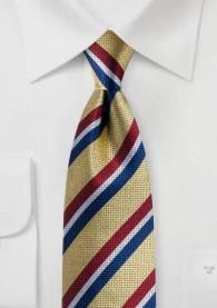 Krawatte Streifendesign gelb