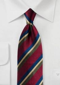 Krawatte Streifendessin bordeauxrot